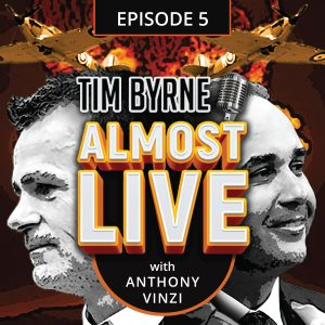"The road to Anthony Vinzi's appearance on this podcast was a long and arduous one. Tim and Anthony have known one another for over a decade. Their paths would occasionally cross on various construction projects. Anthony runs Promain Exterior Maintenance, a full service concrete and ashphalt company based in Woodbridge. But it was in 2010 when they really became friends. 2010 also happens to be the worst year of Tim's life. Though those two facts aren't related. Well, actually they kind of are. You see, Tim had a shit crazy year in 2010. His brother and he stopped talking to one another after many years of working together in the family business. But that's a topic for another podcast. Then in March of that year Tim was forced to admit to an affair. He was sued in April by one of the women for sexual harassment. Tim and his then wife broke up and he moved out of the house. Then in October Tim's 20 year old son Hilton was left in a coma after a skateboarding accident. He remained in St. Michael's hospital for 21 days before he succumbed to his injuries. Tim was a broken man as he recounts in the episode. ""I was embarrassed. I was a mess. My heart was broken, my ego shattered and my reputation was in tatters,"" he remembers. That's when Anthony enters the picture. Tim had hired Anthony to pave a driveway at one of his properties. Those plans were shelved after Hilton's accident. Tim basically stayed inside his house and didn't leave for days at a time. Getting out of bed was next to impossible. But once a week Tim would hear a light tap at the door. He almost never got up to see who it was. But eventually, he would open the door to find a large Tim Horton's coffee on the stoop. It was usually frozen solid by then and there was no sign of who has left it. This went on for several weeks. Then one morning Tim happened to up when the knock came. He opened the door to find Anthony's orange coat descending the stairs. ""Hey!"" Tim said. ""Oh hey man,"" Anthony answered. ""I just wanted to make sure you were OK."" That began a years long friendship that culiminates in this week's episode."