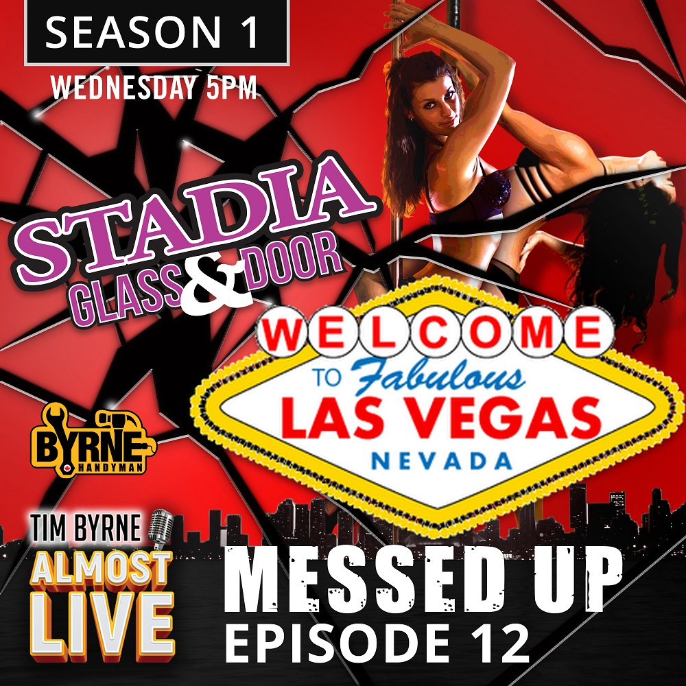 "Las Vegas. It's a storied city. The home of The Rat Pack, The Strip and The Bellagio. But when Tim's guest this week mentions that he recently returned from Las Vegas he focuses on something else entirely. ""Do you have any stories about hookers and blow?"" Tim asks Josh Stratton. Josh is a pretty reserved member of the Stadia and Byrne on Demand team and politely declines to fuel Tim's lascivious imagination. Instead he shares the story of his recent divorce tour of Las Vegas. He and a friend went out for dinner and drinks at The Golden Steer. The Steer became famous when it became a regular haunt for the Rat Pack. It was the only place on The Strop that would serve Sammy Davis Jr. back in the 50's. After staggering out of the place in the early morning hours Josh and his Buddy wandered back onto The Strip. It was at that moment when a group of parachuters dressed completely in black landed right in front of Josh and his buddy. It seems a group of intrepid base jumpers took advantage of quiet Vegas night to jump off the top of a construction crane. Tim is totally unimpressed by this incredible story. ""I think you should have added some hookers, nudity and blow to that story."" He says. Tim had to beg Josh to do this interview. It seems that not only do Stadia's customers think this podcast is a terrible idea, so do most of the staff. It's just another example of the loony owner with another dog shit idea that is likely going to sink the entire company. Josh is used to this of course. He's been with the company for five years. Tim and Josh have known each other for longer than that, though. They first met through a mutual friend named Fraser who worked at an electronics store. Tim had done quite a bit of work for that store. But the owner was late paying the bill. Tim rolled up on his Harley, hopped off the bike, stormed into the store and politely told Fraser that if he didn't pay what was owed he was going to destroy every TV in the place. Without missing a beat Fraser cut him a check and the two became fast friends. It was at Fraser's wedding that Josh and Tim met each other. They were both getting trashed at the bar when Tim decided Josh would make a good addition to the company. Josh didn't know a fucking thing about door and glass when he first joined Stadia. Tim said not to worry about it and the he would learn on the fly. Josh did figure out the business eventually but only after more than a few mistakes. The most famous example was changing the giant windows at The TD Towers. It was a frozen January weekend and they had to swap out a 2 0 foot piece of glass using the remote controlled suction gear. The glass was out and set to be installed when the R/C unit stopped working. The glass sat hovering just a few inches off the ground for six hours as Josh desperately tried to figure out what was wrong. In the end the solution was the same as with every piece of electronic gear. Just restart the fucking thing. Sponsors http://stadia.ca/ http://www.byrneondemand.ca/"
