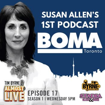 "Tim is really excited for this week's guest. He somehow managed to convince the President of BOMA Toronto to join him on this edition. Susan Allen has a ton of experience in building management, including a decade at Cadillac Fairview. Tim's been super-impressed with her work ethic for a long time and was thrilled when she agreed to appear on the show. Susan has been in the industry for a little over twenty years. She worked at TD Centre for about eight years and later was asked to move over to the retail side of the business. Her first property was at Woodbine Centre which was a faltering shopping mall in Etobicoke. She managed to turn the place around and learned a lot about retail in the process. Moving from commercial to retail was very different. The commercial world is a lot more buttoned-down and corporate. Woodbine depended on a lot of small businesses with very different expectations. Tim gets to brass tacks right away. ""Who pays their rent better? Retail or commercial?"" He asks point blank. Susan is very diplomatic in her answer. She says big corporate retailers are pretty easy to deal with because they are so stable. The smaller mom and pop operations are often struggling and that meant Susan had to make accomodations for them. Susan had already worked with BOMA for more than a decade before she came over to work as President. She had left her position at Cadillac Fairview to get her MBA. Shortly after the President of BOMA left and she was asked to take over. ""Is BOMA an old boys club?"" Tim asks. When he was more involved with the organization he found it to be a pretty insular place. Susan says they have worked very hard to change that. Every member can apply for any position now and they will all be guaranteed at least an interview. BOMA has also been working hard to open the organization to younger professionals. ""Do women get paid less than men?"" Tim asks. Susan says she hasn't experienced that in her career, with the caveat that she has worked with two great companies over the years. These days top talent is in such high demand that she would be shocked if it was pervasive practice. ""It just doesn't make any business sense."" She says. Tim wraps up the conversation by asking if she works more or less hours since moving to BOMA. Her husband asked the same question. She says she's just not wired that way. She's always working to raise the bar higher. ""You're a total powerhouse."" Tim says. Connect https://www.bomatoronto.org/ https://www.linkedin.com/in/susan-allen-7a28a586"