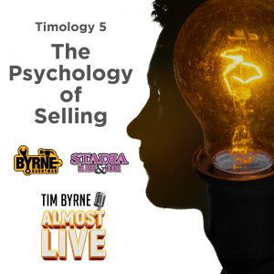 """Selling is hard. It's exhausting physically. It's exhausting mentally. It's not for the faint of heart. Tim tries to drive that message home this week when he is once again joined by his sales guys Dylan and Andy. It's all about the psychology of selling and why the hardest part of the job is dealing with what's going on in your own head. The episode starts with a conversation about embarrassing yourself on the job. You have to be prepared to do it. Tim shares just such a story. Earlier this year he met with the head of one of Stadia's biggest clients. The guy is a major power player in Ontario construction. He's way too busy to be taking meetings with Tim. Yet Tim, somehow, managed to get just such a meeting. It was a hot day. Really hot. And Tim decided to where one of his nicest shirts. It was a purple shirt. Arriving early Tim sat on the patio directly facing the scorching summer sun. By the time the bigshot arrived Tim's purple shirt was soaking wet. The pit stains stretched down to belt. The big shot was clearly weirded out and he hasn't taken Tim's call since. The point of that horror story is that you have to be prepared to look stupid. """"If you're not putting yourself outside of your comfort zone every day you're not going to make it,"""" Tim says. It's going to take a while to get comfortable with yourself in the job."""