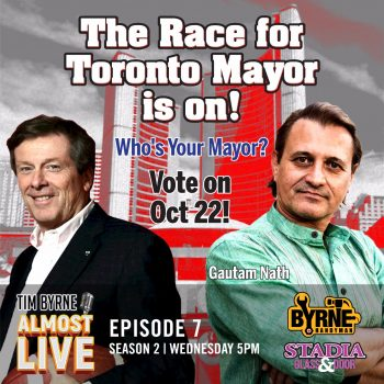 "These are exciting times in Ontario. Towns and cities across our fair province will be hiring new mayors in October. The political landscape has changed a lot over the last four years. Donald Trump has really shook things up. I don't like everything that Trump does but he has made every stand-up and have an opinion. I think there's a real benefit to that. Over the next few weeks I'm going to be speaking with several mayoral candidates. I want find out where they stand on the issues that I'm really passionate about - namely small business, taxes and PC culture. Today, I've invited Toronto mayoral candidate Gautam Nath to join me in the studio. This is the first time Gautam has ever run for elected office. It's expensive to enter politics and Nath has depended on volunteers to help his candidacy. Nath worked in finance for big multinationals for years and wants to bring that expertise to local government. ""The mayor is in the best position to make sure things happen for the people of Toronto,"" he says. One of Tim's biggest complaints about the Wynne government was her decision to raise the minimum wage. He thinks that if you give someone a handout it diminishes their incentive to work. Gautam thinks there is an analogy to the way Canada's economy has operated for years. For too long, he says, Canadians depended on exports to the US. The 2008 recession made us realize that we have to diversify our markets. It made us work harder to compete in a global market. So what about John Tory? He's been everywhere over the last few weeks but, in Nath's eyes, totally absent for the previous four years. Tory was elected on the promise of creating the SmartTrack. ""We're still waiting to see where the smart starts and where the track begins,"" Nath says. Nath believes it's time for a change and voters are hungry for something that's real. We'll find out when Torontonians go to the polls on Oct 22. Connect https://gn4mayor-to.ca/"
