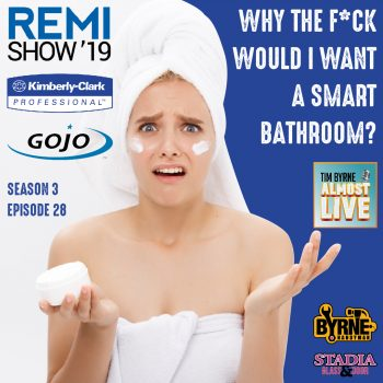 If there was one common theme at this year's REMI Show it was technology. Tech vendors have every imaginable solution for building managers. Some make sense. Others...not so much. One of the more interesting attempts is a joint effort by paper giant Kimberly Clark and Gojo, the inventors of Purell. They want to create a smart bathroom. Yes, you heard me right. The idea is to add internet connected sensors to things like paper and soap dispensers. No more waiting for complaints from irritated clients to fix the shitter. Not a bad idea. But I was skeptical. The guys from KC and Gojo tried to make the case for why the initial investment is worth it. ***************** INSTAGRAM: https://www.instagram.com/timbyrnealm... TWITTER: https://twitter.com/timbyrnealmost FACEBOOK: http://www.Facebook.com/TimByrneAlmos...